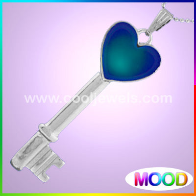 Mood Heart Key Necklace