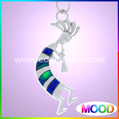 Mood Kokopelli Necklace