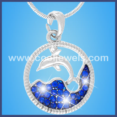 Dolphin Rhinestone Ocean Necklaces