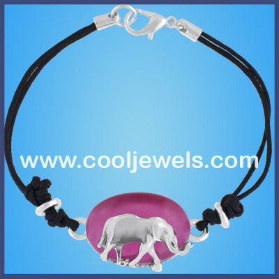 Cat's Eye Silver Elephant Bracelets