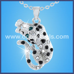Rhinestone Cheetah Necklace