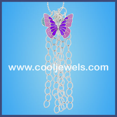 Enamel Butterfly Necklaces