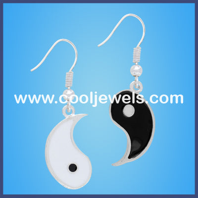 Enamel Yin Yang Earrings