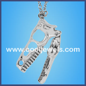 Silver Dinosaur Head Necklaces