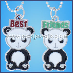 Best Friends Panda Necklaces