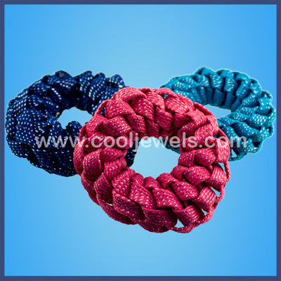 Hair Scrunchie Silver Stitch