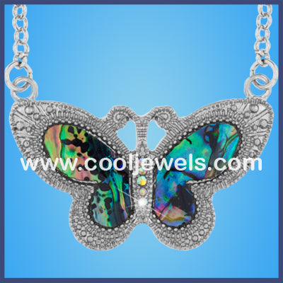 Paua Shell Butterfly Necklaces