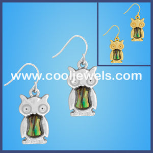 MOP Owl Earrings