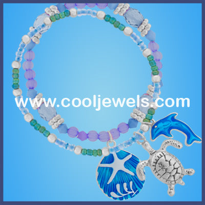 Sealife Charms Beaded Bracelets