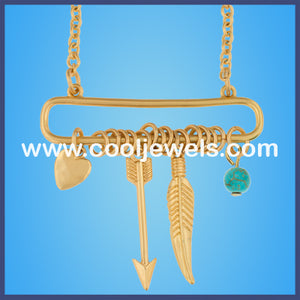 Arrow Feather Heart Necklaces