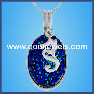 Seahorse Oval Stone Necklaces