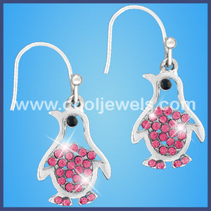 Penguin Rhinestone Earrings