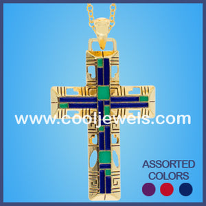 Enamel Cross Necklaces