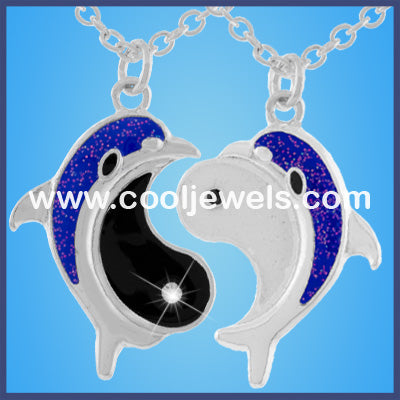 Yin Yang Dolphin Necklace