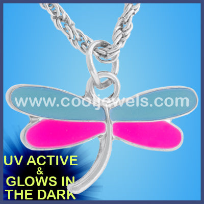 Glow in the Dark Dragonfly Necklace