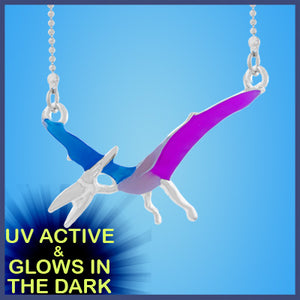 UV Glow in the dark Dinosaur Pterodactyl Necklace