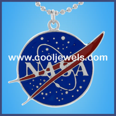 Enamel NASA Necklace