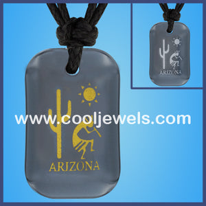 Hematite Kokopelli Arizona Necklaces