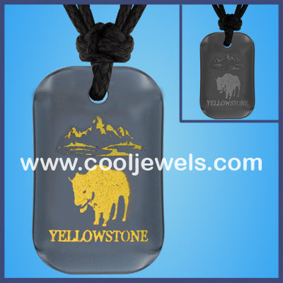 Hematite Bison Yellowstone Necklaces