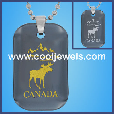 Hematite Moose Canada Necklaces