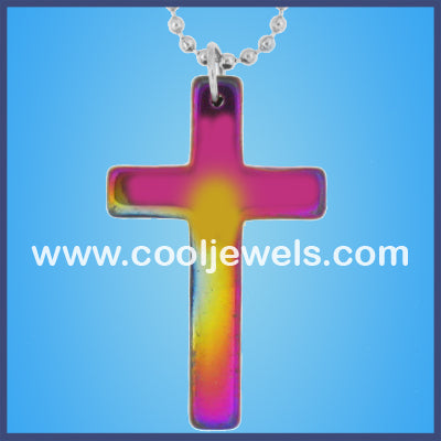AB Hematite Cross Necklaces