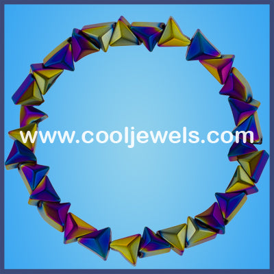 AB Hematite Stretch Triangles Bracelets