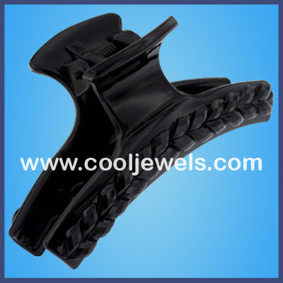 Black Pattern Jaw Clips