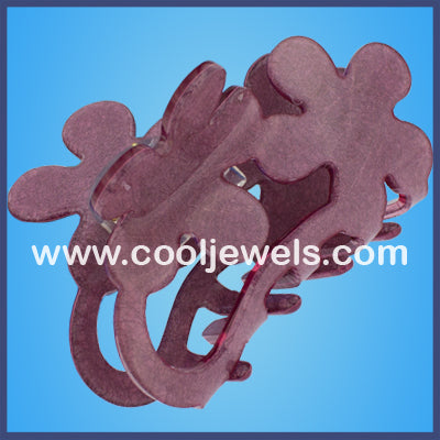 Floral Pattern Jaw Clips