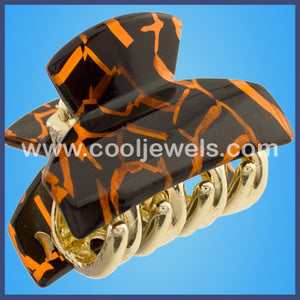 Leopard Design Hair Fashion Jaw Clips