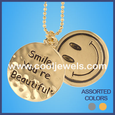 Happy Face Necklaces