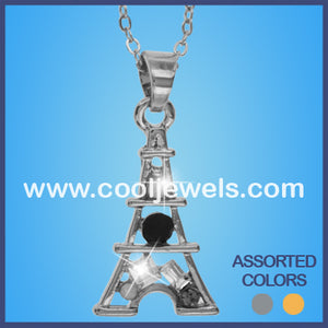 Rhinestone Eiffel Tower Necklaces