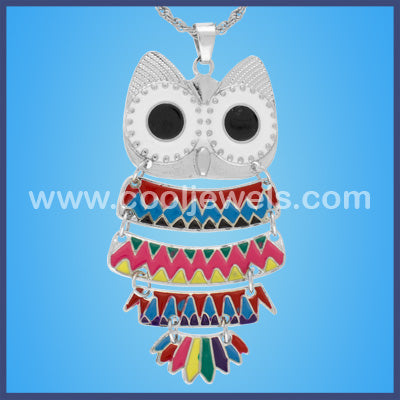 Assorted Colored Owl Necklaces