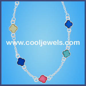 Silver Clover Necklaces