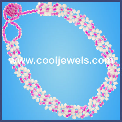 Seed Bead Flower Anklets