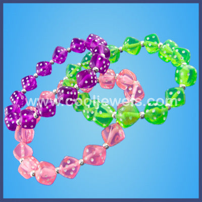Colored Dice Stretch Bracelet