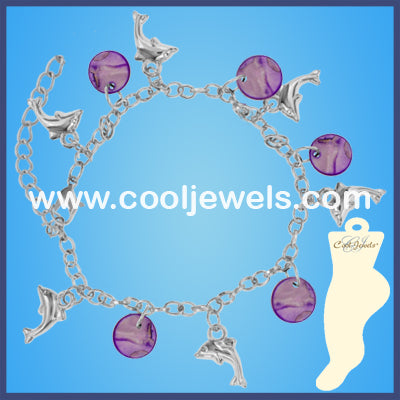 MOP Disc Dolphin Anklets