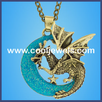 Steampunk Winged Dragon Necklaces