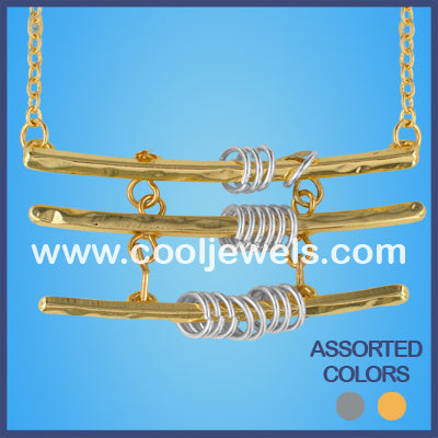 Triple Bar Necklaces