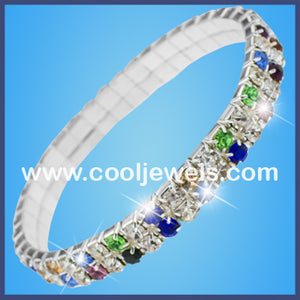Assorted Color Rhinestone Bracelets
