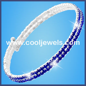 Colored Rhinestones Wrapped Bracelets