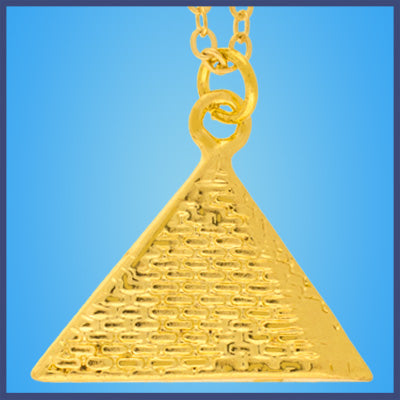 Gold Egyptian Pyramid Necklace