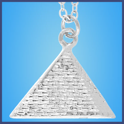 Silver Egyptian Pyramid Necklace