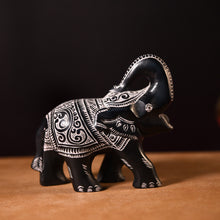 Load image into Gallery viewer, BLACK LUCKY ELEPHANT SOAPSTONE