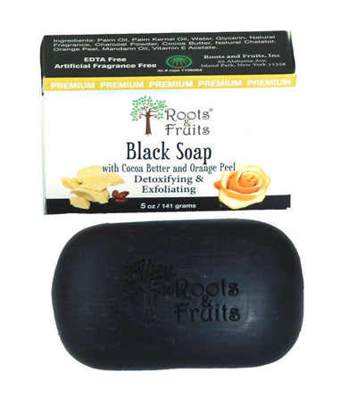 Black Cocoa Butter & Orange Soap