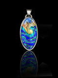 Oval Wave Pendant