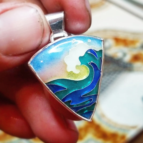 Wave Shield Pendant