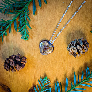 Santa Cruz Mountain Strong Redwood Heart