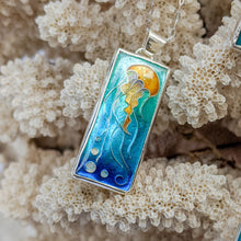Load image into Gallery viewer, Rectangle Jellyfish Pendant