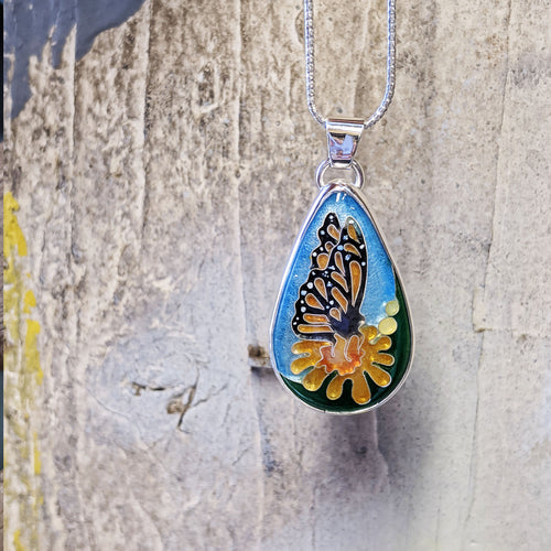 Teardrop Monarch Pendant