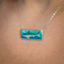 Load image into Gallery viewer, Rectangle Shark Pendant